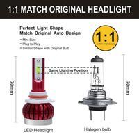 H7 Headlights LED Bulbs Car Headlights Fog Lights 8000k Lights Ice Blue Light Accessories Car Lights Automobiles Car Headlights 4