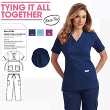RY-Professional Medical Wear Clothes Hospital Women Doctors Nurses Scrub Sets Fashion Slim Fit Uniforms with Back Ties Lab Gowns
