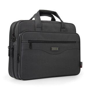 Image 2 - Business Briefcase Laptop Bag Oxford Cloth Waterproof Handbags men Casual Portfolios Man Travel Shoulder Bags For Men