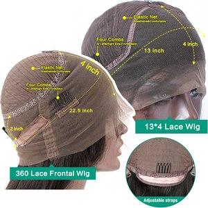 Image 5 - Jaycee prosto 13x4 koronki przodu włosów ludzkich włosów peruki brazylijski dziewiczy Remy włosy dla czarnych kobiet 360 peruki typu Lace Front
