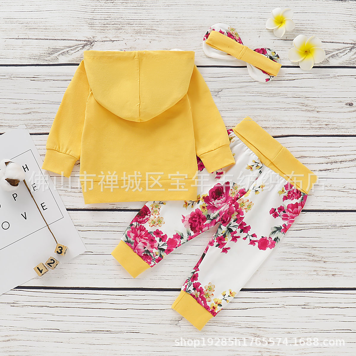 Children's Clothing  Striped Long-Sleeved Casual Printing Hooded  set D09.21 5