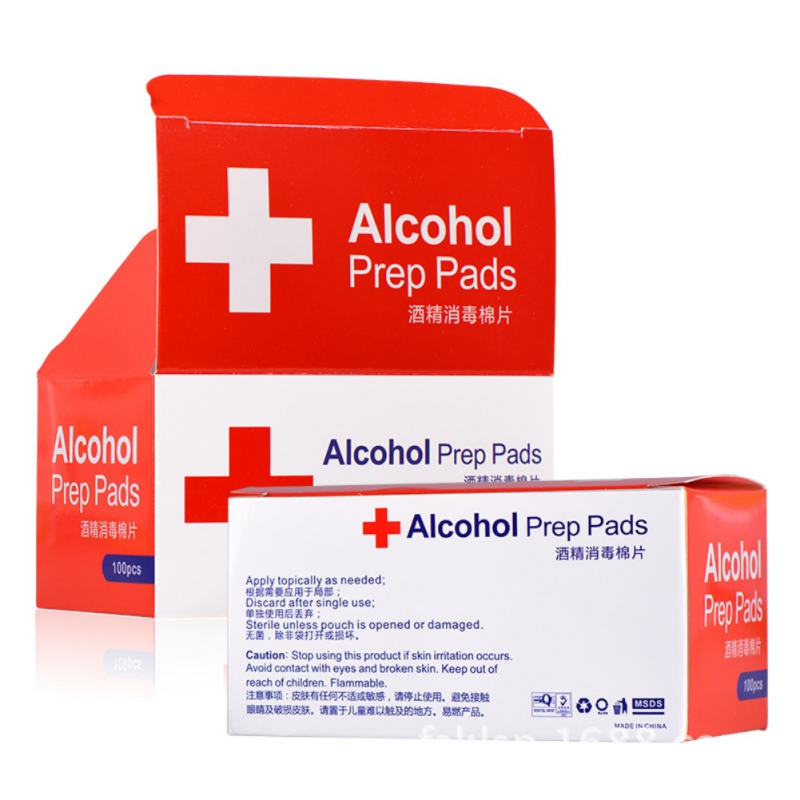 Sterile -Alcohol Prep Pads , Gauze Pads Individually Wrapped, 3 X 6CM Pack Of 100
