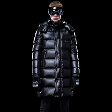 Men #8217 s Down Jacket Long Winter Coat Thick Warm Puffer Goose Down Jacket Men Clothes 2019 Hooded Plus Size Coats KJ3115 cheap ZVAQS REGULAR M1801M1HL013 Casual zipper Full Pockets Thick (Winter) NYLON Grey goose down NONE 300g Solid plumas hombre invierno