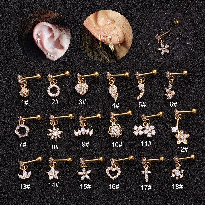 1 шт Диаметр 0,8 мм в Корейском стиле Простые Женские Висячие серьги, модное ювелирное изделие, 2020 Маленькие Круглые Пирсинг висячие серьги