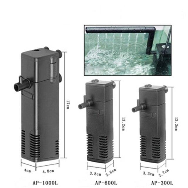3/4/8/22W Aquarium Filter Submersible Pump Fish Tank internal Water purify Oxygen Spray Power Filter EU Plug aquarium filter
