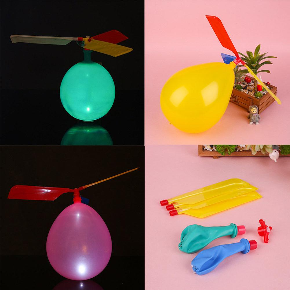 Kids Balloon Toy Copter Outdoor Child Kid Balloon Copter Plane Helicopter Flying Aircraft DIY Game Toy Gift For Children