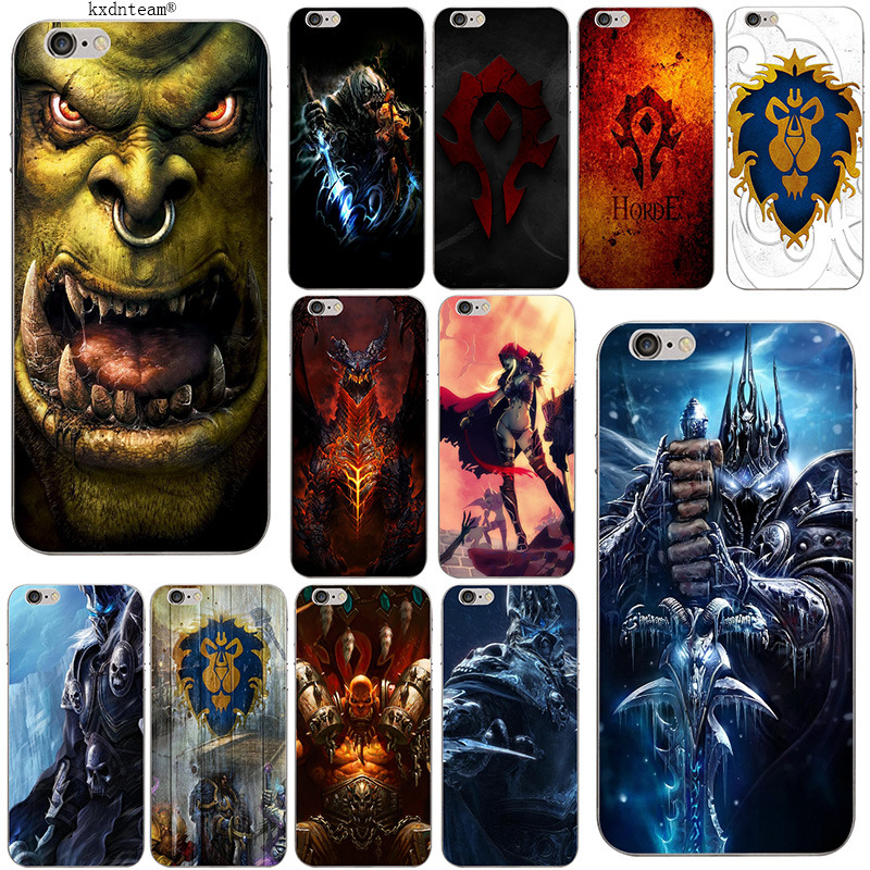 Silicone Soft Accessories Cover WOWs Logo World Of Warcrafts TPU Phone Cases for iPhone 8 7 6 6S Plus X 5 5S SE 5C 4 Coque Shell image