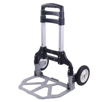 Trolley shopping cart folding portable trolley aluminum trolleys pulling goods luggage carts trolleys фото