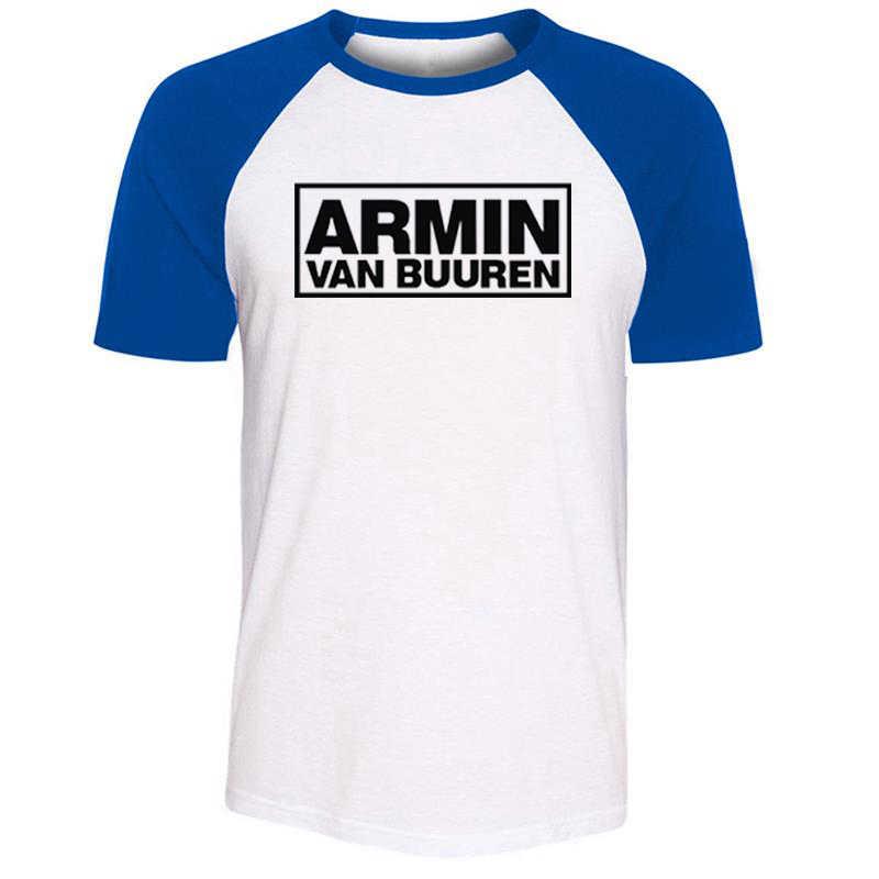 iDzn Unisex Summer Fashion T-shirt Armin Van Buuren DJ Fans Art Pattern Design Raglan Short Sleeve Men T shirt Casual Tee Tops