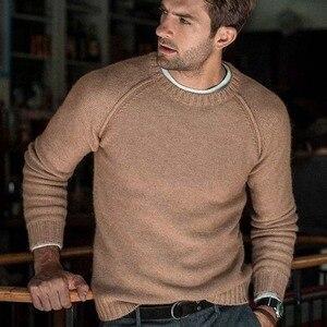 Image 2 - סתיו החורף מוצק סוודר גברים החדש מקרית Slim Fit Mens סרוג סוודרים נוחות O צוואר סריגי סוודרים גברים S 3XL למשוך Homme