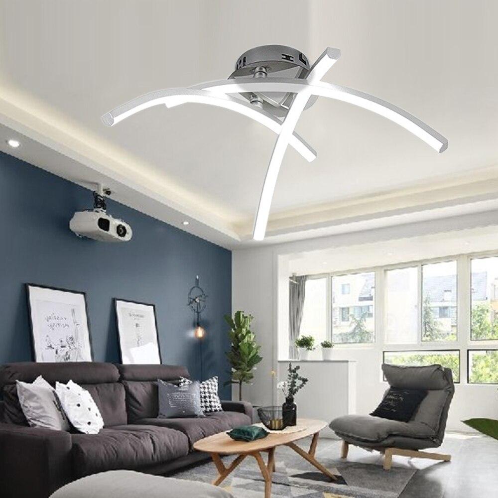 Modern LED Ceiling Lamp 18W Trigeminal Fork Shape Novelty Chandelier Ceiling Light For Bedroom Living Room Kitchen Decoration