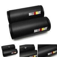 2 uds RALLI ART negro de fibra de carbono Circular asiento de coche cojín almohadas reposacabezas asientos circulares reposacabezas|Almohadilla de cuello|Automóviles y motocicletas -
