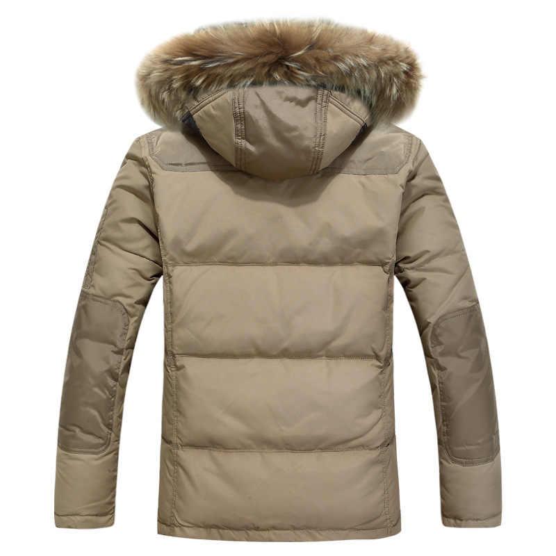 Мужская Новая 2019 куртка-пуховик Повседневная мужская зимняя куртка ветровка белая куртка мужская толстовка/пальто для мужчин/Мужское пальто