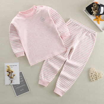 Baby Boys Girl Pajamas Sets Pure Cotton Sleepwear Suit Pyjamas Long Sleeve Tops+Pants Kids Boy Girls Clothes Set - discount item  49% OFF Children's Clothing