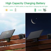 Solar Panel for Security Camera 5V Wall Mount Outdoor Weatherproof Solar Power Charging Panel for Home System Android Interface