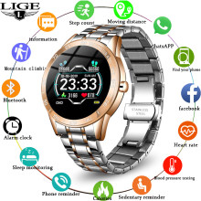 LIGE Fashion Luxury Smart Watch Men Waterproof Sports Fitness Tracker Bluetooth Connection for Android iOS Phone New smartwatch