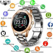 Lige moda de luxo relógio inteligente masculino à prova dwaterproof água esportes fitness rastreador conexão bluetooth para android ios telefone novo smartwatch