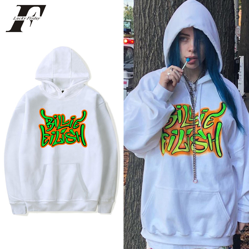 Billie Eilish Fashion Sweatshirts Casual Men Women Hooded Pullover Sport Hip Hop Billie Eilish Clothes Oversized Hoodies Plus