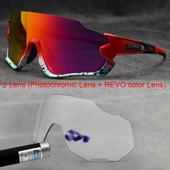 Polarizado óculos de ciclismo homem esporte óculos de sol photochromic uv400 5 lente deportivas polarizadas hombre gafas oculos ciclismo 1