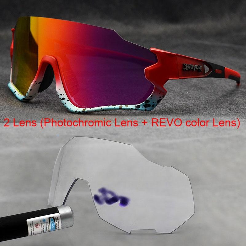 Polarized Cycling Glasses Men Sport Sunglasses Photochromic Uv400 5lens  Deportivas Polarizadas Hombre Gafas Oculos Ciclismo