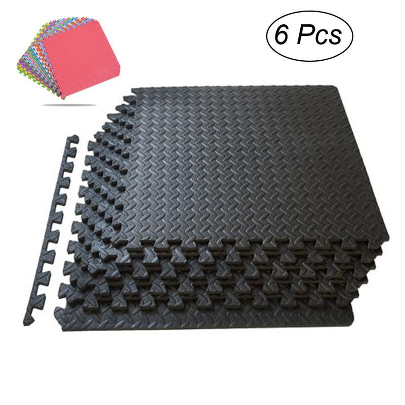6 pièces EVA mousse carreaux Puzzle tapis dexercice Fitness carreaux de verrouillage plancher coussin de protection pour les entraînements enfants tapis de jeu