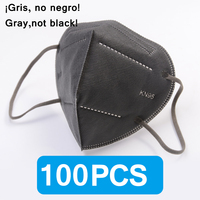 100PCS Gray FFP2