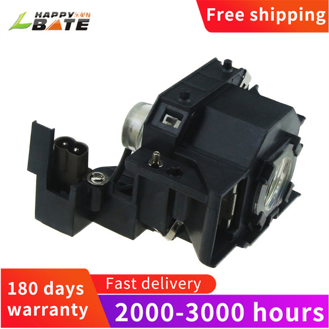 Happybate ELPLP44/ V13H010L44 Compatible Lamp with Housing FOR EB DM2 EH DM2 EMP DE1 EMP DM1 MOVIEMATE 50 MOVIEM