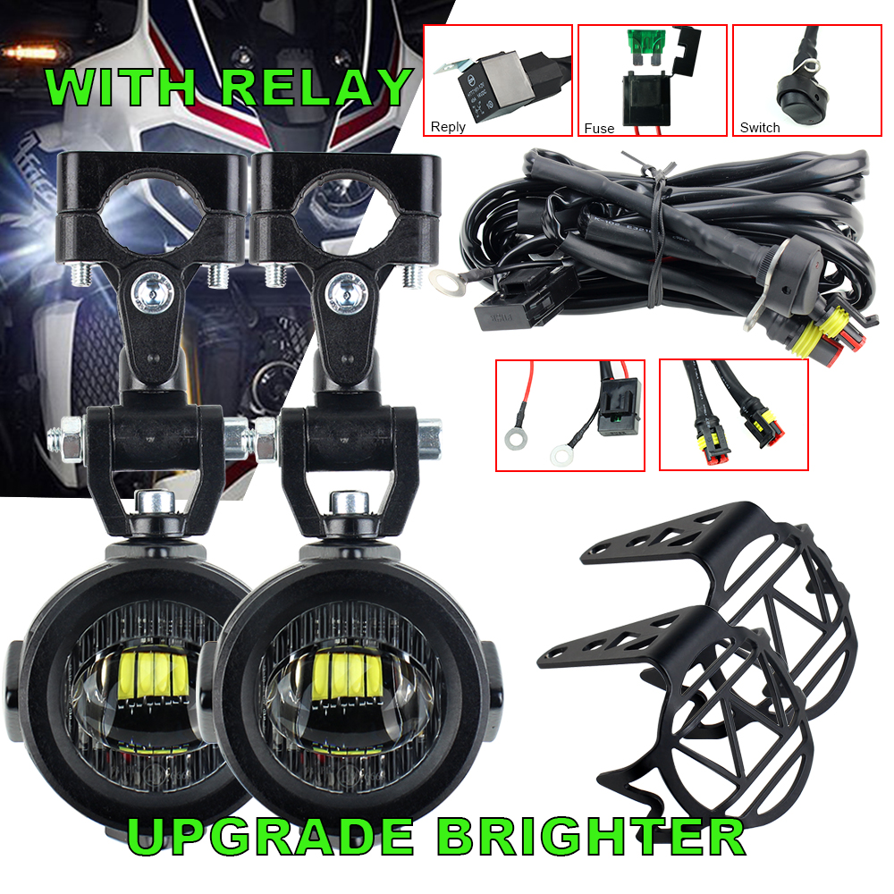 Upgrade Brighter Lamp For BMW R1200GS F800GS F700GS F650 K1600 Motorcycle fog light Auxiliary Lights 40W 6000K