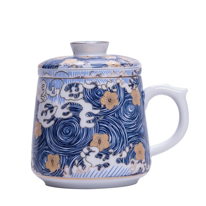WIZAMONY2020 Nieuwe Aankomst 390ml Twee Kleuren Magic Keramische Koffie Thee Melk Hot Koude Warmte Sneeuw Glazuur Mok Gift Japanse stijl - 4