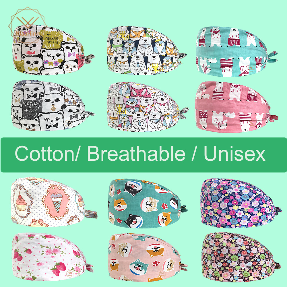 17 Colors Animals Prints Cute Scrub Caps High Quality Gourd Hat Clinic Hospital Dental Surgical Laboratory Pharmacy Medical Caps