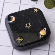 Fashion Contact Lens Case Portable Contact Lens Case Box Holder Container Outdoor Travel Contact Lenses Box ultrasonic contact lens cleaner portable lenses glasses stainless steel