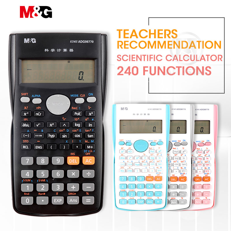 M&G 240 Functions Colorful Scientific Calculator 82MS Auto Power Off Financial Calculater science for office school students image
