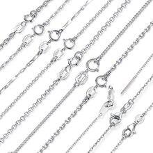 BAMOER Classic base catena 100% 925 Sterling Silver chiusura a moschettone collana regolabile catena di gioielli moda SCA009-45