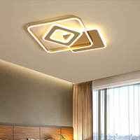 Gold Modern LED Ceiling Light Round Square Simple Surface Mount Ceiling Lamp With Remote Control For Living Dining Room Bedroom