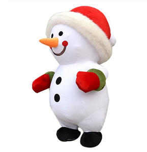 Costume-Suits Mascot Adult Promotion-Dress Christmas-Snowman Advertising Halloween Party