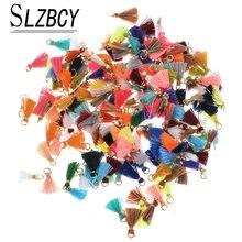 20 pçs/lote cores mistas pequena borla jóias acessório para pulseira, colar, artesanal, mini borla, fazer jóias, localização feminina