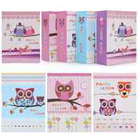 High-capacity Photo Album Cute Owl Girl Print Cover 100 Sheets Interstitial Family Wedding Pictures Case Kids Birthday Best Gift