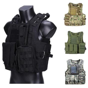 Kamizelka taktyczna sprzęt airsoft wojskowy amfibia kamuflaż kamizelka bojowa Outdoor polowanie armia strzelanie CS kamizelki ochronne tanie i dobre opinie HAN WILD Wiosna Lato AUTUMN Winter Pasuje prawda na wymiar weź swój normalny rozmiar Oxford Tactical Vest Camouflage