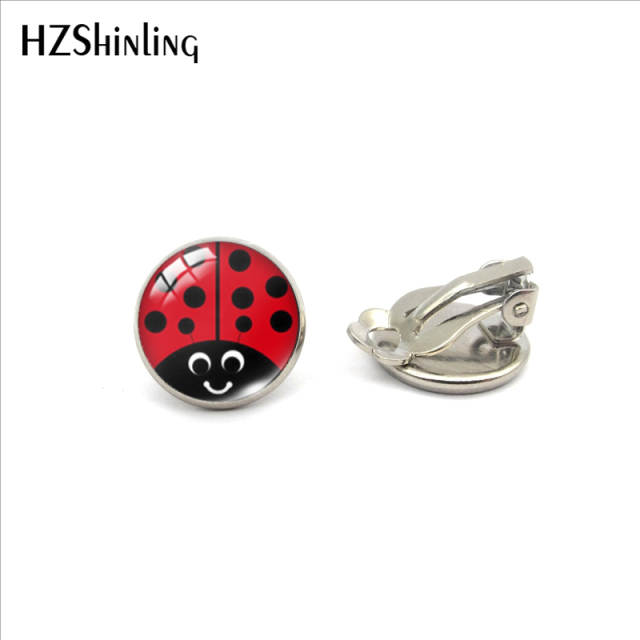 Earrings Cute Ladybug Jewelry No Pierced Earrings Gifts for Girls 8