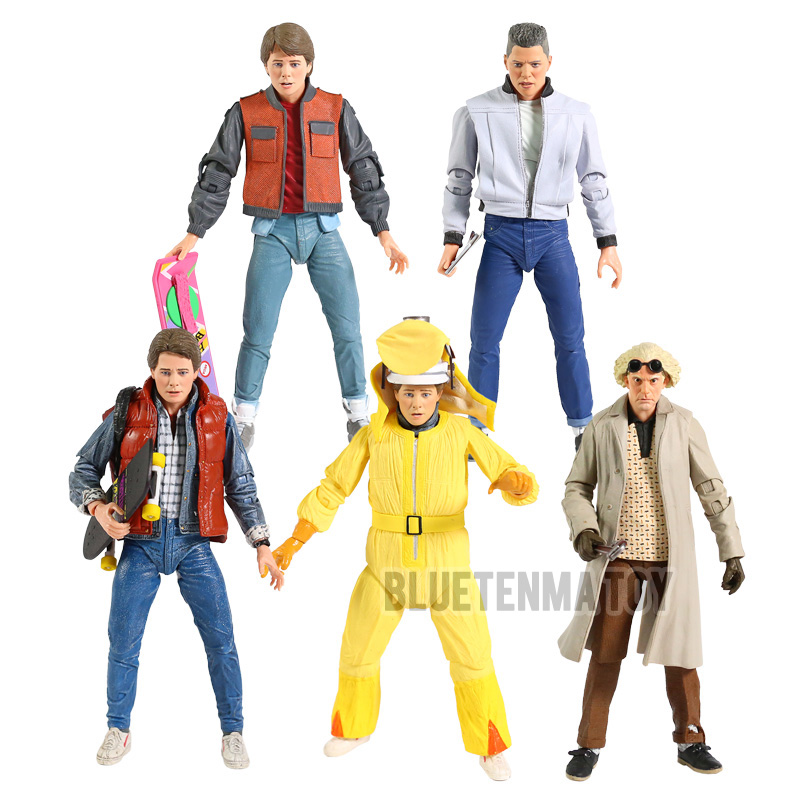 NECA Back to the Future I II III Marty McFly Dr. Brown Biff Tannen 7