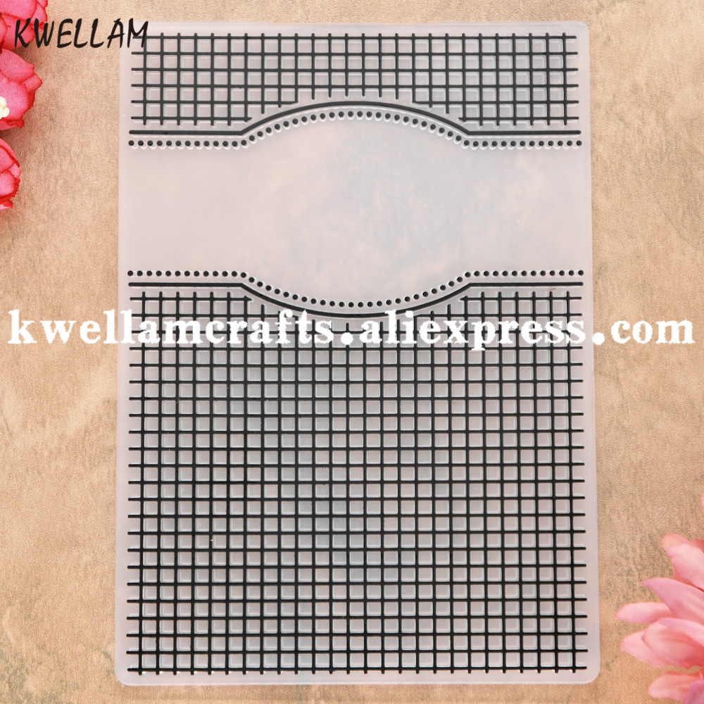 KWELLAM Heart with Love Plastic Embossing Folders for Card Making Scrapbooking and Other Paper Crafts