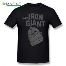 Iron Giant T Shirt Logo T-Shirt Print 100 Percent Cotton Tee Mens Beach 5x Short Sleeves Fun Tshirt