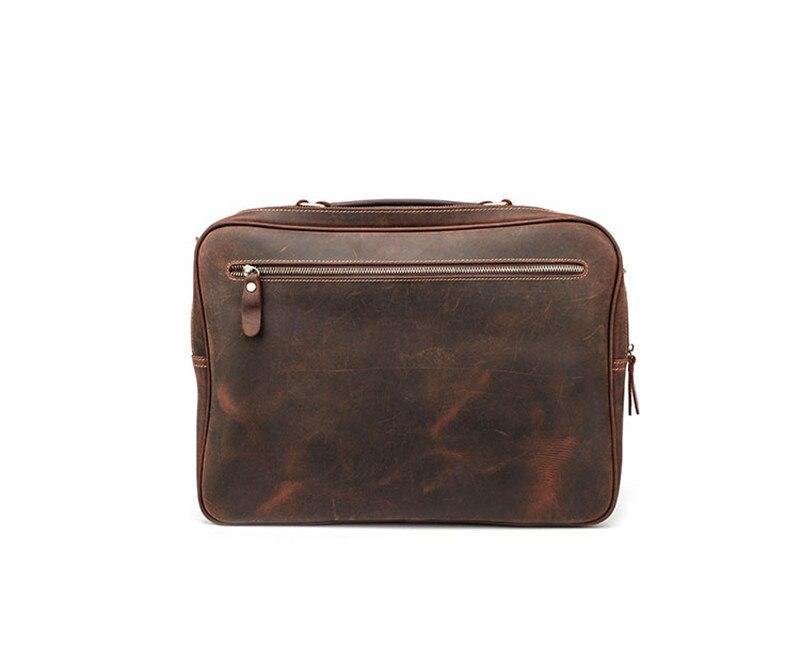 PNDME vintage casual crazy horse cowhide men's briefcase genuine  leather business luxury large laptop shoulder messenger bags