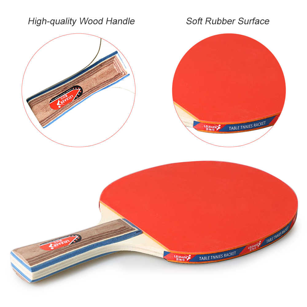 Table Tennis 2 Player Set 2 Bats Rackets 3 Ping Pong Balls For School Home C1W8