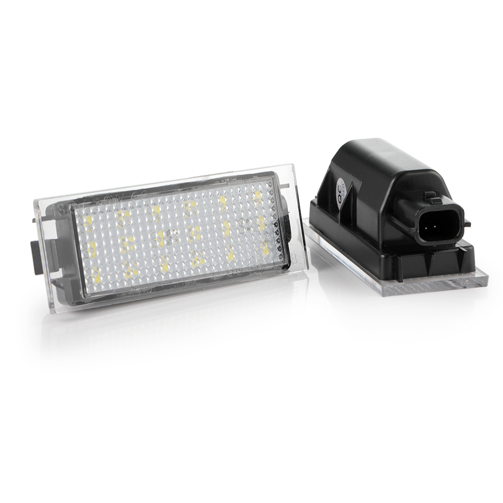 2Pcs Canbus Car <font><b>LED</b></font> Number License Plate Light No error For <font><b>Renault</b></font> Megane 2 Clio Laguna 2 Megane <font><b>3</b></font> Twingo <font><b>Master</b></font> Vel Satis image