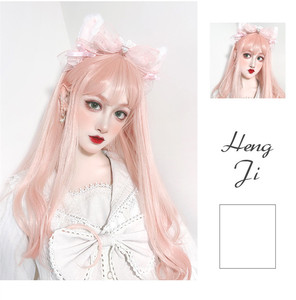 Image 2 - Lunga parrucca ondulati corti parrucca Lolita Parrucca Sintetica Resistente Al Calore Dei Capelli Del Anime Del Partito parrucche 26 colore Colorato