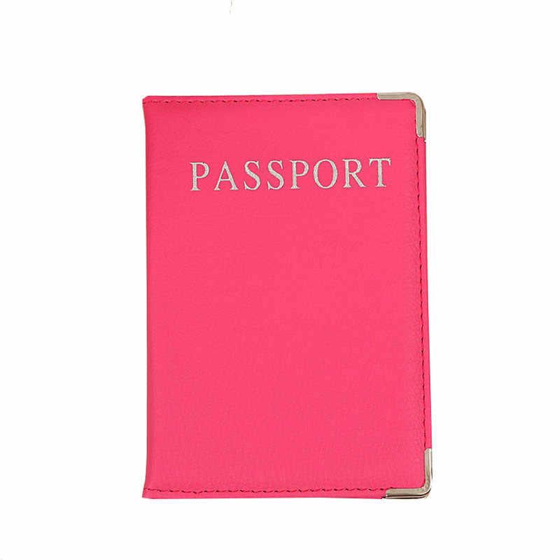 Copertina Del Passaporto di viaggio Rosa Morbido Cuoio Dell'unità di elaborazione Cassa Del Passaporto Carino Coperture per I Passaporti Pochette Copertura per I Documenti di Supporto di Carta