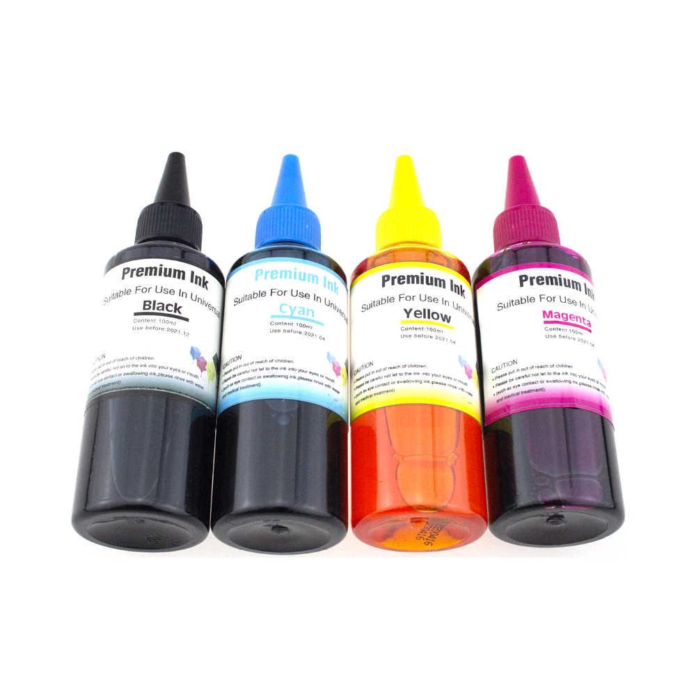 Kit de recarga de tinta Universal de 100ml para Epson, para Canon, HP para Brother, todos los modelos de tinta de impresora CISS, tinta Voor inkt Tank