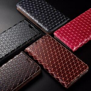 Image 4 - جلد طبيعي شبكة الحال بالنسبة OnePlus واحد اثنين 1 2 3X5 5T 6 6T 7 7T برو محفظة قلابة حامل قذائف أكياس كابا غطاء