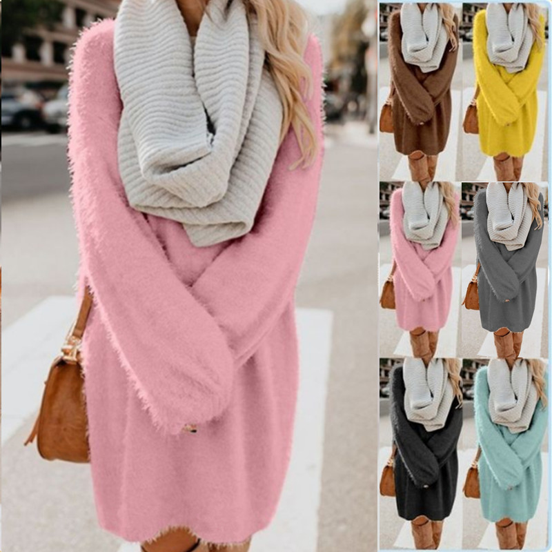 Sweater Long Sleeve Loose Pullover Crew Neck O-neck Full Polyester It Regular